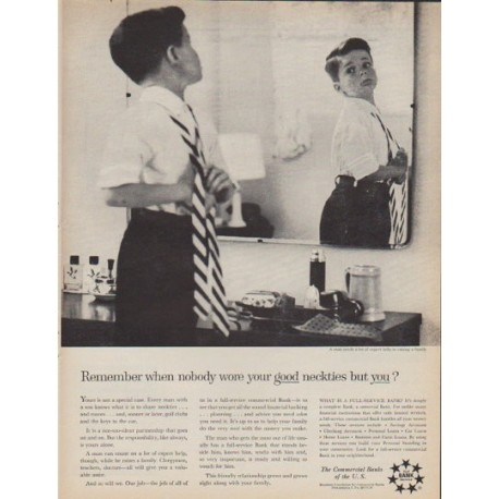"1961 Commercial Banks Ad ""Remember when"""