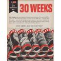 "1961 LIFE Magazine Ad ""30 weeks"""