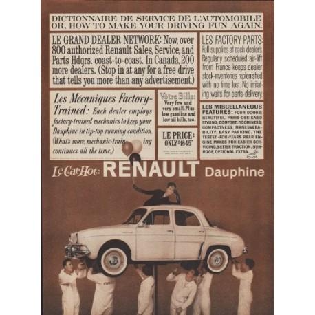 """1960 Renault Dauphine Ad """"Driving Fun Again"""""""