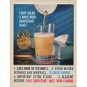 "1961 Florida Citrus Commission Ad ""Fight Colds"""