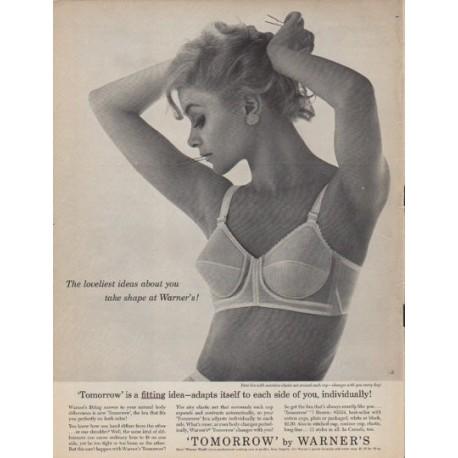 """1961 Warner's Bras Ad """"The loveliest ideas"""""""