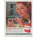 """1961 Winston Cigarettes Ad """"up front"""""""
