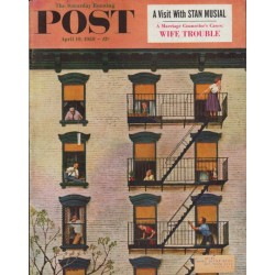 "1958 Saturday Evening Post Cover Page ""Clarinet Player"""