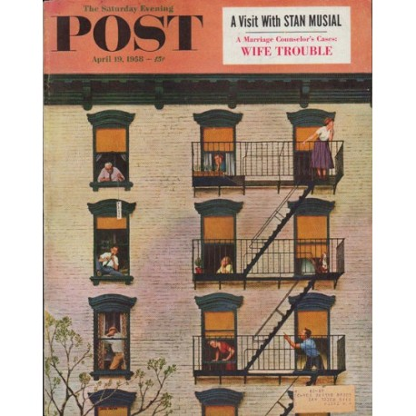 """1958 Saturday Evening Post Cover Page """"Clarinet Player"""""""