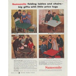 "1958 Samsonite Ad ""folding tables and chairs"""