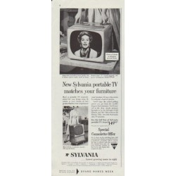 "1958 Sylvania TV Ad ""matches your furniture"""
