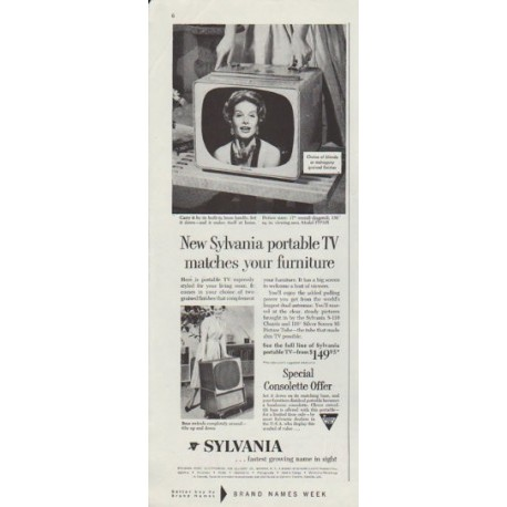 "1958 Sylvania TV Ad ""matches your furniture"""