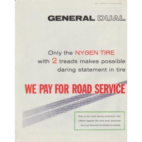 "1958 General Tire Ad ""General Dual 90"""