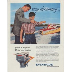 "1958 Evinrude Ad ""stop dreaming"""