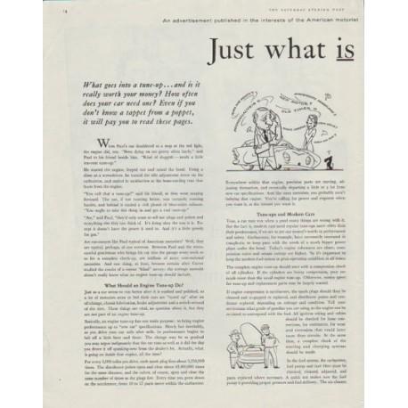 "1958 Carter Carburetor Ad ""engine tune-up"""