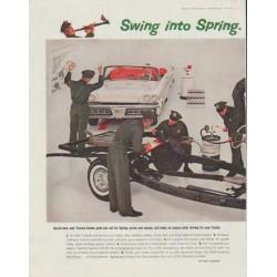 "1958 Texaco Ad ""Swing into Spring"""