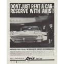 """1958 Avis Rent-a-Car Ad """"Don't just rent a car"""""""