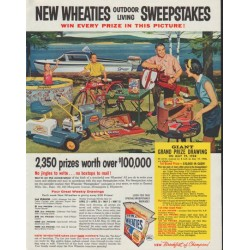 "1958 Wheaties Ad ""Sweepstakes"""