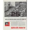 "1958 Auto-Lite Spark Plugs Ad ""Fire Up"""
