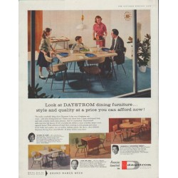 "1958 Daystrom Furniture Ad ""Look at DAYSTROM"""