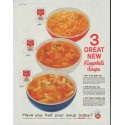 """1958 Campbell's Soup Ad """"3 Great New"""""""