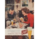 """1960 Schlitz Beer Ad """"Joy of Good Living!"""""""