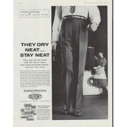 "1958 Du Pont Dacron Ad ""They Dry Neat"""