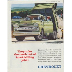 "1958 Chevrolet Ad ""Task-Force Trucks"""