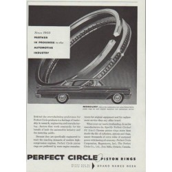 "1958 Perfect Circle Piston Rings Ad ""Since 1903"""