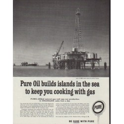 "1958 Pure Oil Company Ad ""islands in the sea"""