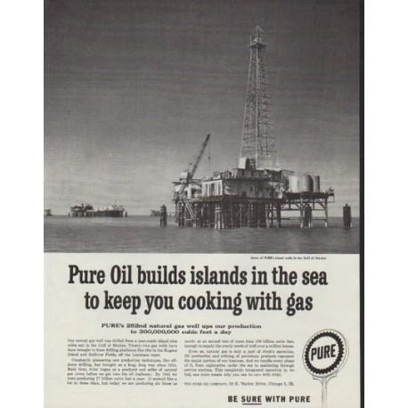 """1958 Pure Oil Company Ad """"islands in the sea"""""""