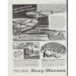 "1958 Borg-Warner Ad ""Believe It or Not"""