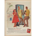 "1960 Seven-Up Company Ad ""7-Up Crazy, Mixed-Up Fun?"""