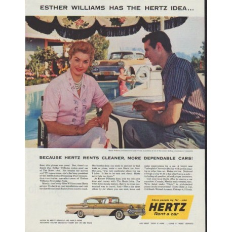 "1958 Hertz Ad ""Esther Williams"""