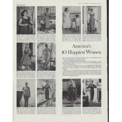 "1958 Stauffer Home Reducing Plan Ad ""10 Happiest Women"""