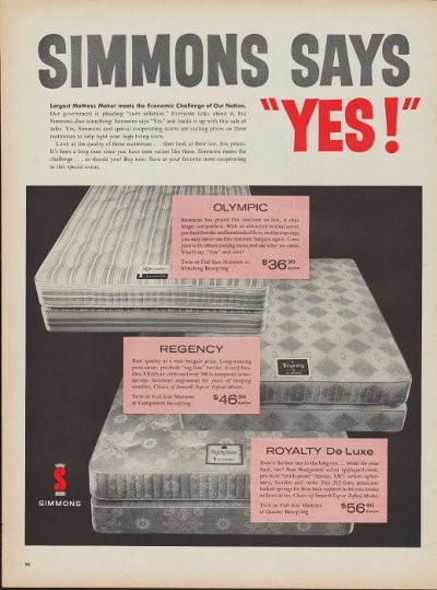1960 Simmons Mattress Ad Quot Simmons Says Yes Quot