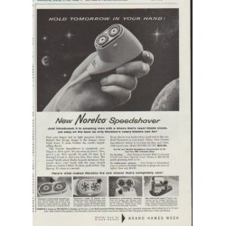 "1958 Norelco Ad ""Hold Tomorrow In Your Hand"""