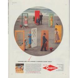 "1958 Simpson Door Ad ""Chances are"""