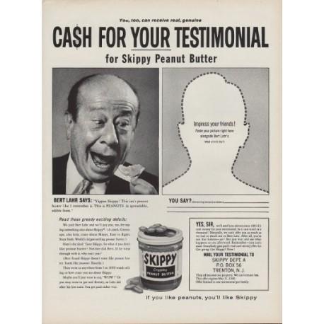 "1960 Skippy Peanut Butter Ad ""Bert Lahr"""