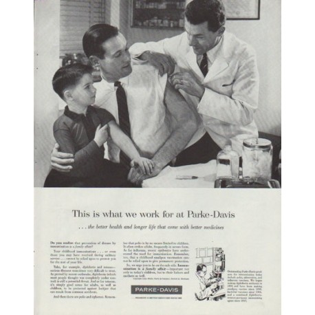 """1958 Parke-Davis Ad """"This is what we work for"""""""