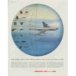 "1958 Boeing Ad ""cut your travel time in half"""