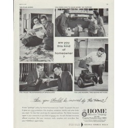"1958 The Home Insurance Company Ad ""this kind of homeowner"""