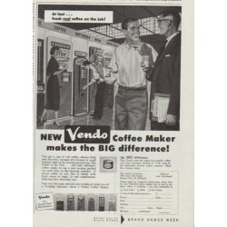 "1958 Vendo Coffee Maker Ad ""At last"""