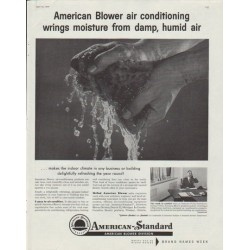 "1958 American-Standard Ad ""air conditioning wrings moisture"""
