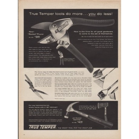 "1960 True Temper Tools Ad ""Do More"""