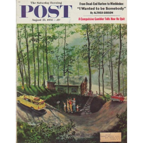 "1958 Saturday Evening Post Cover Page ""The Hideouts"""