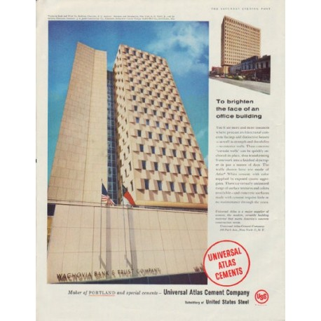 """1958 Universal Atlas Cement Company Ad """"the face"""""""