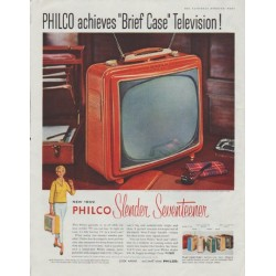 "1958 Philco Television Ad ""Brief Case"""