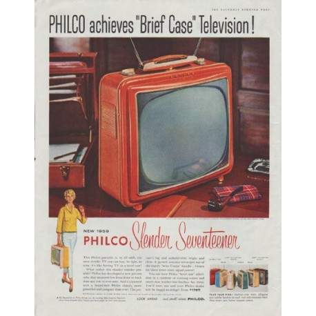 "1958 Philco Television Ad ""Brief Case"""