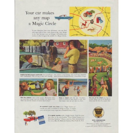 "1958 Ethyl Corporation Ad ""Magic Circle"""