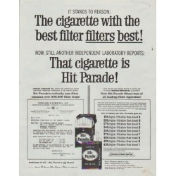 "1958 Hit Parade Cigarettes Ad ""It Stands To Reason"""