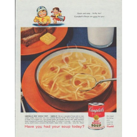 """1958 Campbell's Soup Ad """"Quick and easy"""""""