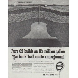 "1958 Pure Oil Ad ""gas bank"""