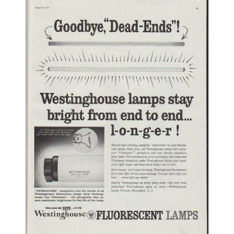 """1958 Westinghouse Ad """"Goodbye, """"Dead-Ends""""!"""""""