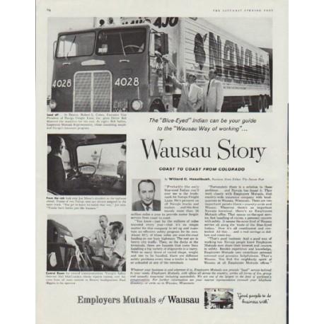 """1958 Employers Mutuals of Wausau Ad """"Wausau Story"""""""